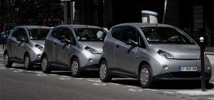 Autolib' Bluecar carsharing service, Paris, France