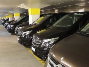 """Cannes, parking sur la Croisette. A peine Uberpop désactivé le 3 juillet dernier, la multinationale lançait un nouveau service """"UberX""""."""