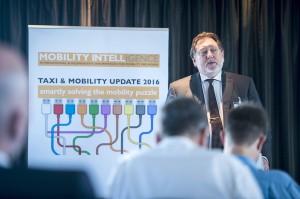 Wim Faber, MobilityIntell/Taxi Times, organisateur de la conférence. © Taxi & Mobility Update 2016.