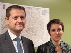 Guillaume Quénet, sous-directeur des déplacements et de l'espace public et Delphine Gilbert, chef du bureau des taxis et des transports publics de la préfecture de police de Paris.