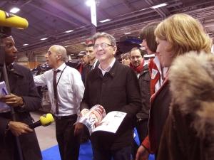 Visiteur surprise de cette édition, Jean-Luc Mélenchon est venu à la rencontre des taxis.